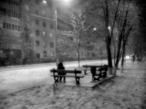 Морозный город, как в тумане